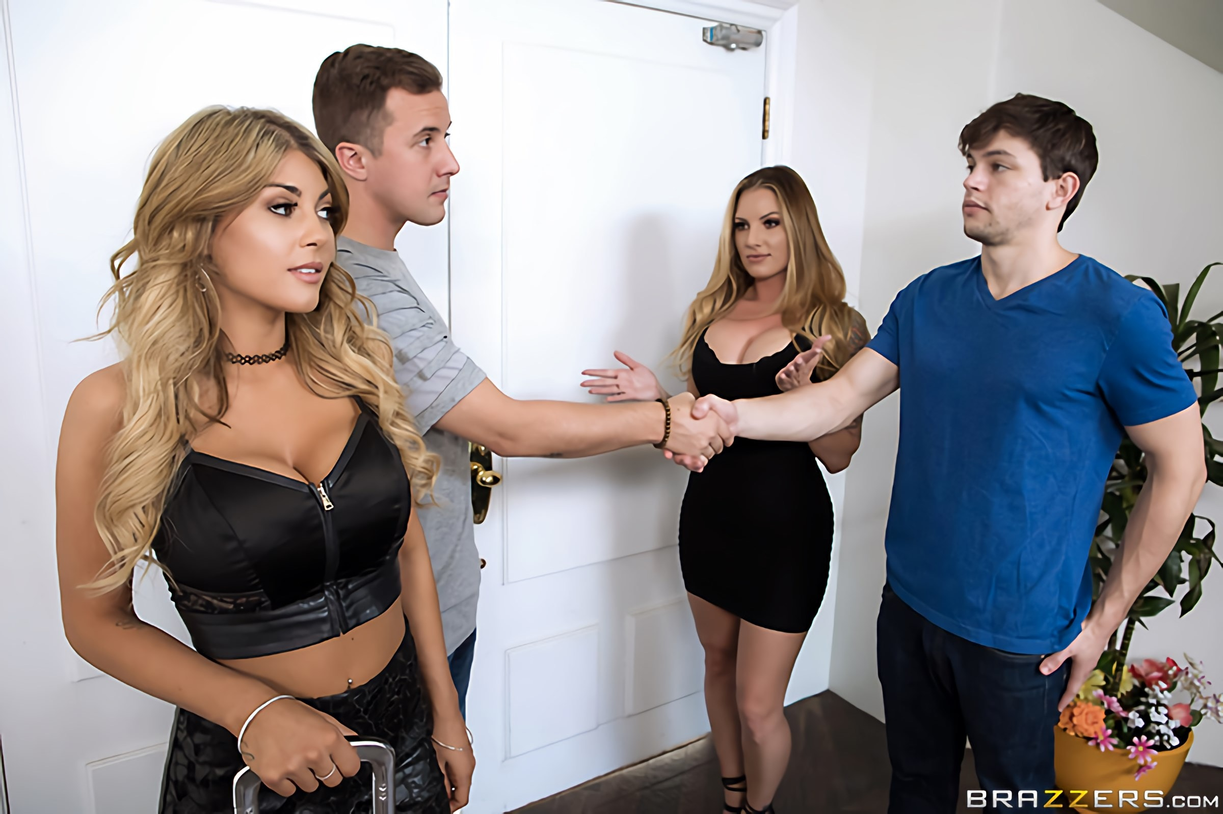 Brazzers 'Sister Swap: Part 1' starring Kayla Kayden (photo 1)