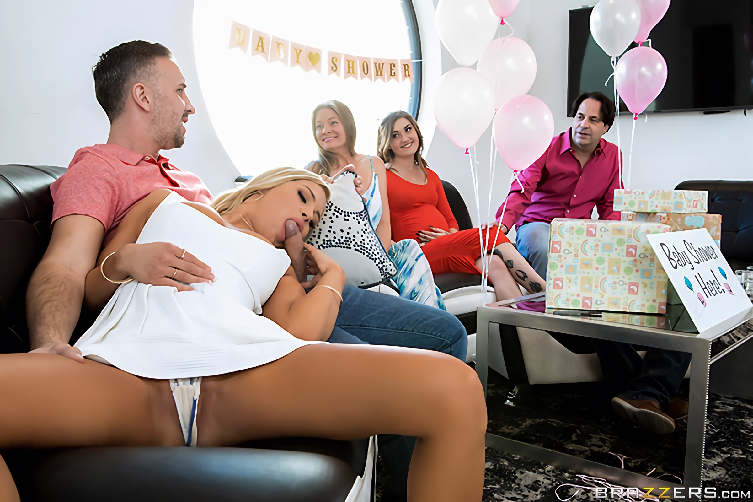 Brazzers 'Busted At The Babyshower' starring Kendall Kayden (photo 1)