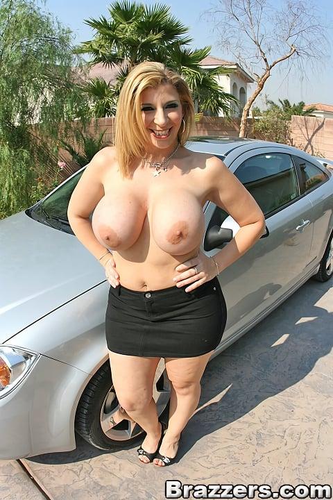 Big naked brest poon