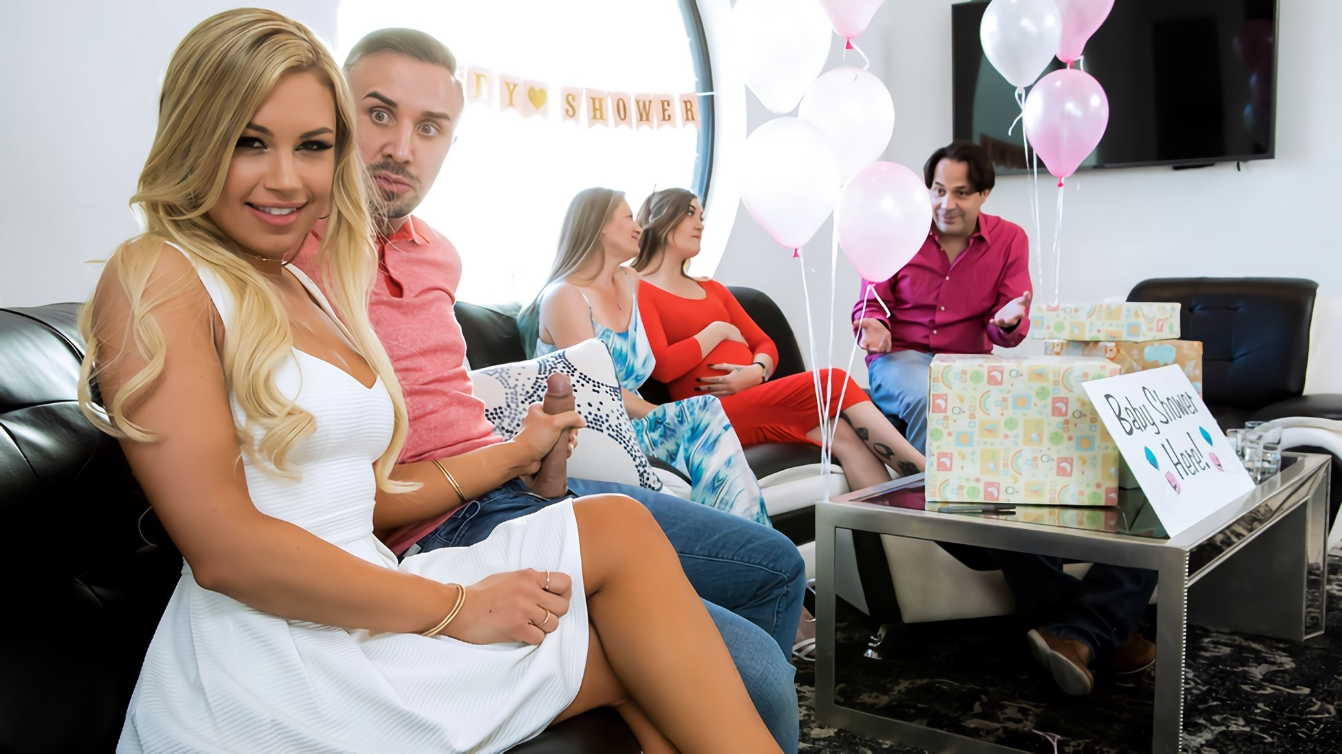 Brazzers 'Busted At The Babyshower' starring Kendall Kayden (photo 6)