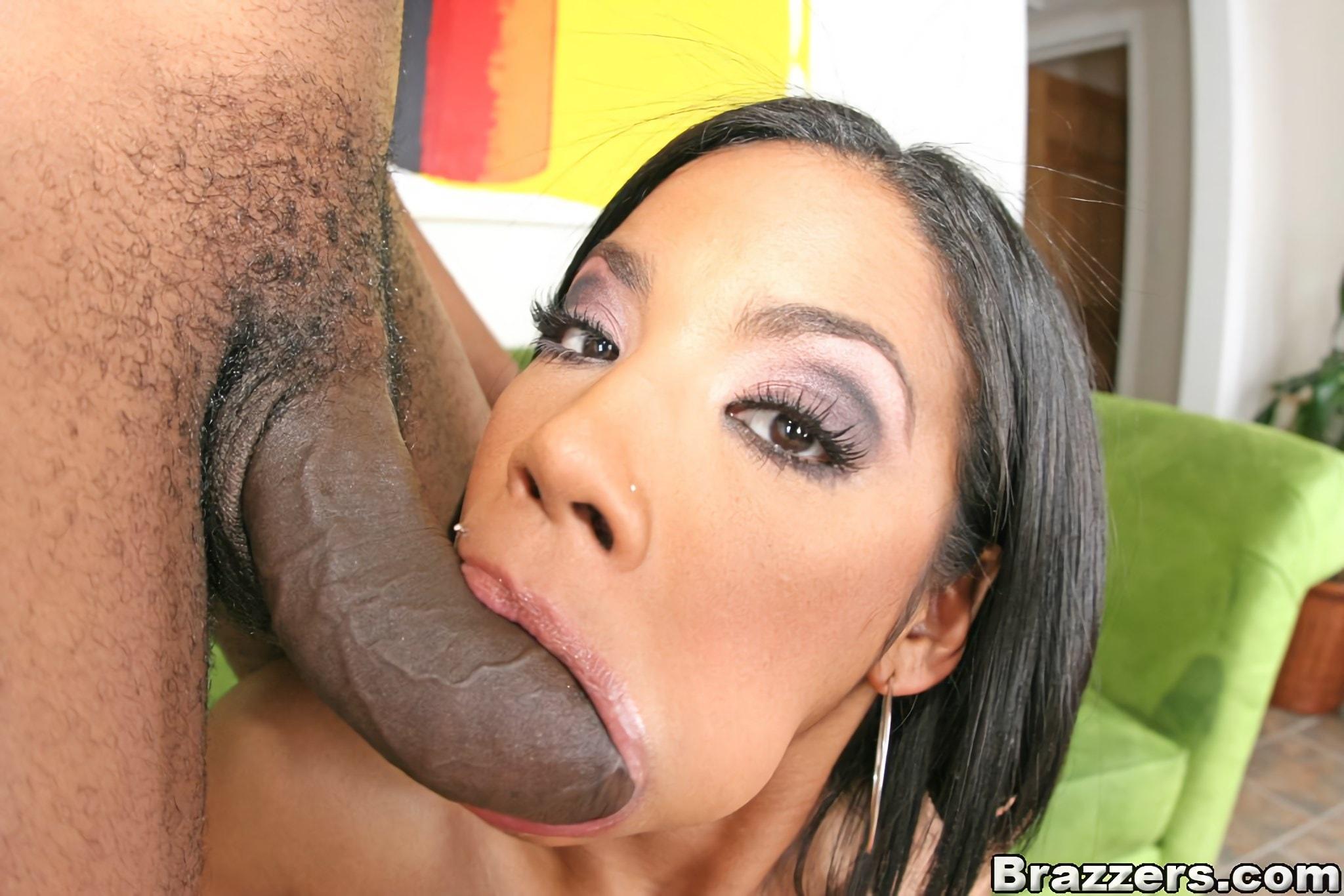 Black Girl Swallows White Dick