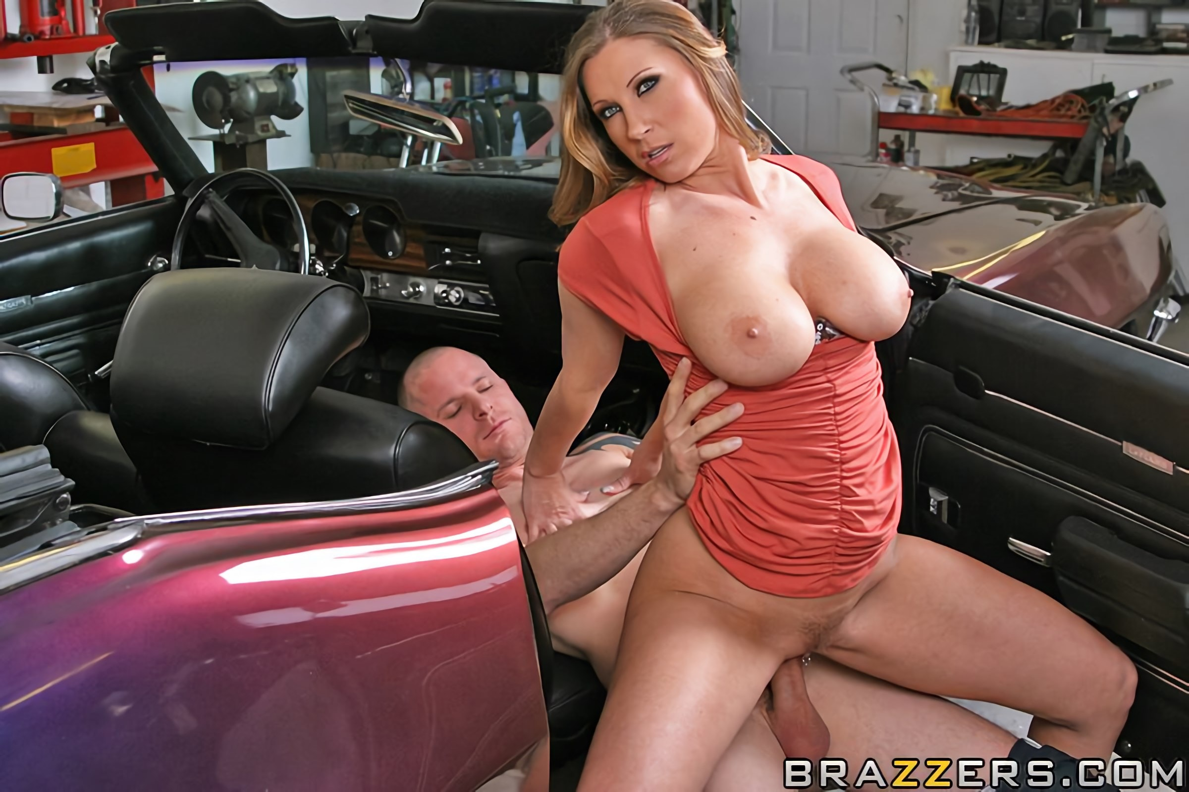 Caught My Wife Katie Morgan Cheating Watched A Mechanic Drench Her In Cum