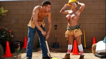 Memphis Monroe in 'Hard Working Girl Hard Pounding Guy'