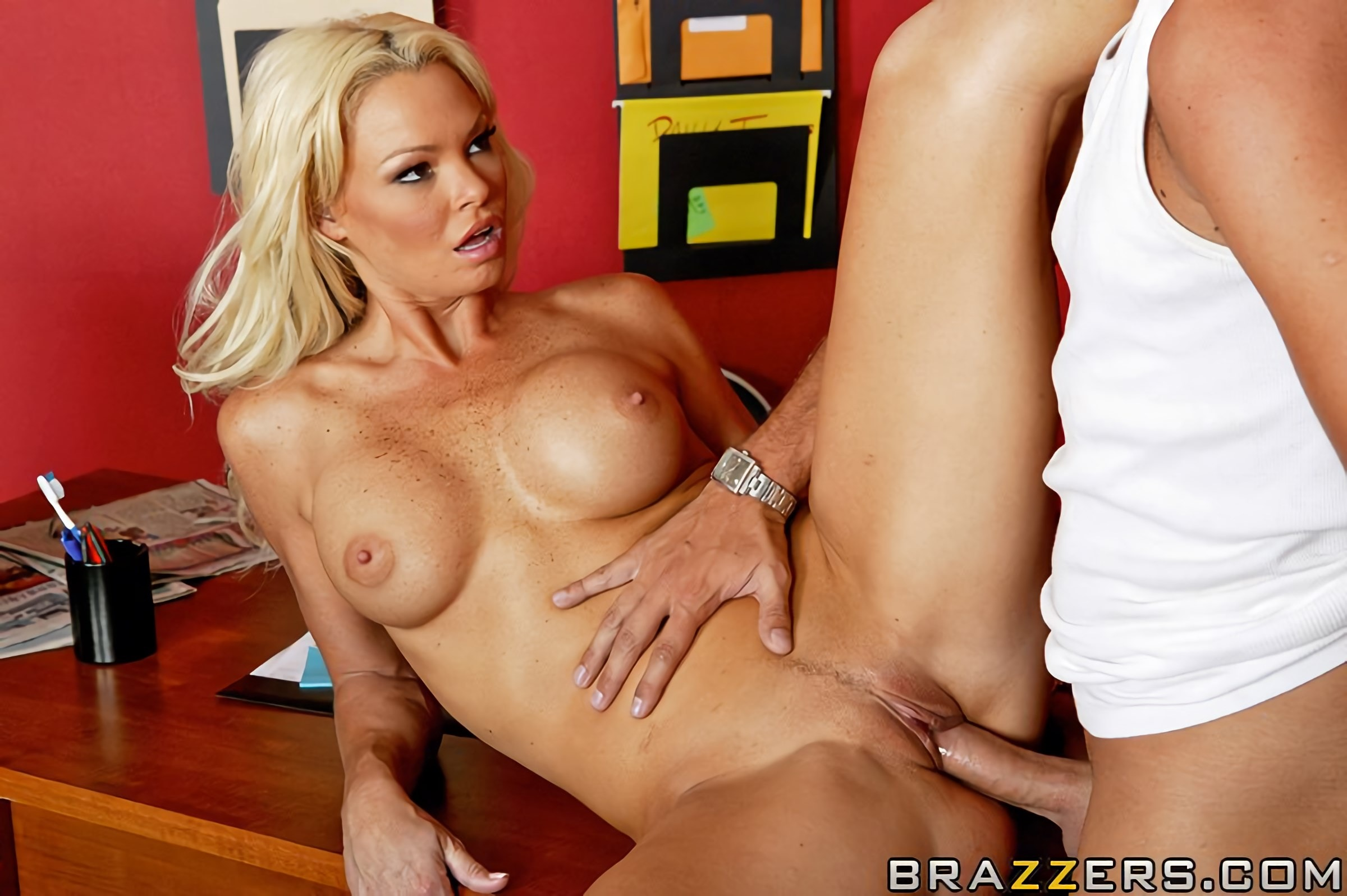 Busty babe rhylee richards is being romped hard in her wet cunny