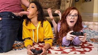 Jeni Angel in 'Gamer Girl Threesome Action'