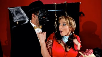 Alanah Rae in 'The Men In Plastic Masks'