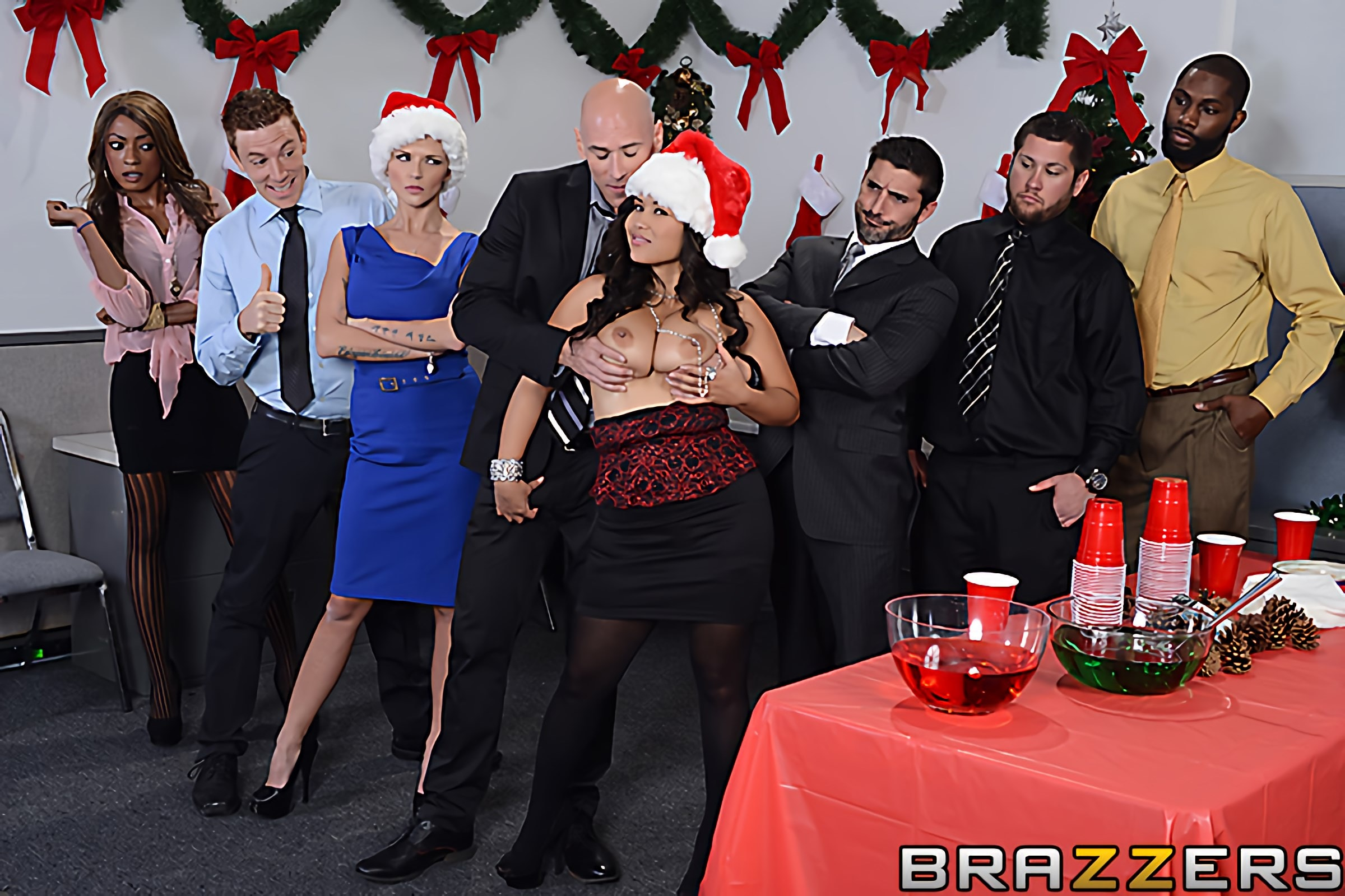 Brazzers 'Office Christmas Party' starring Jessica Bangkok (Photo 1)