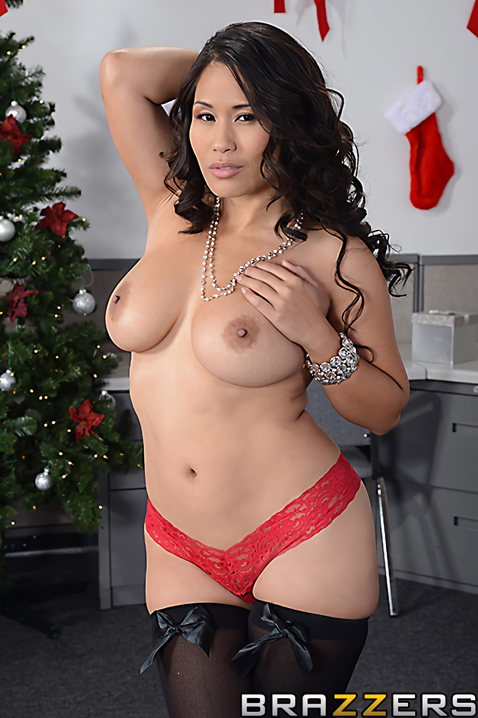 Brazzers 'Office Christmas Party' starring Jessica Bangkok (Photo 14)