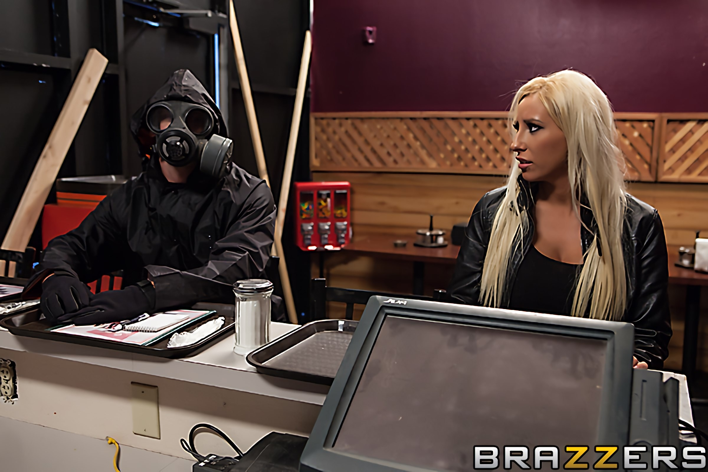 Brazzers 'ZZ- The Last Man of the Acockalypse (First Time Anal)' starring Brooke Fox (Photo 1)