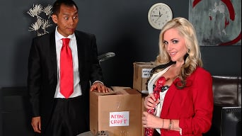 Alena Croft in 'Big Package for a Tiny Pussy'