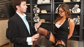 Madison Ivy in 'Tied Up and Spanked at the Bank'