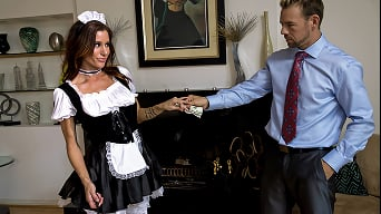Gia Dimarco in 'Four Dicks to Gangbang the Maid'