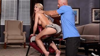 Simone Sonay in 'Massage Chair Muff'