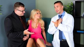 Kayla Kayden in 'Kayla Wants Her Doctors Goo'