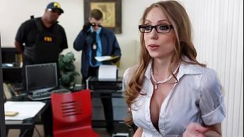 Shawna Lenee in 'The Feds Raid Shawnas Tits'