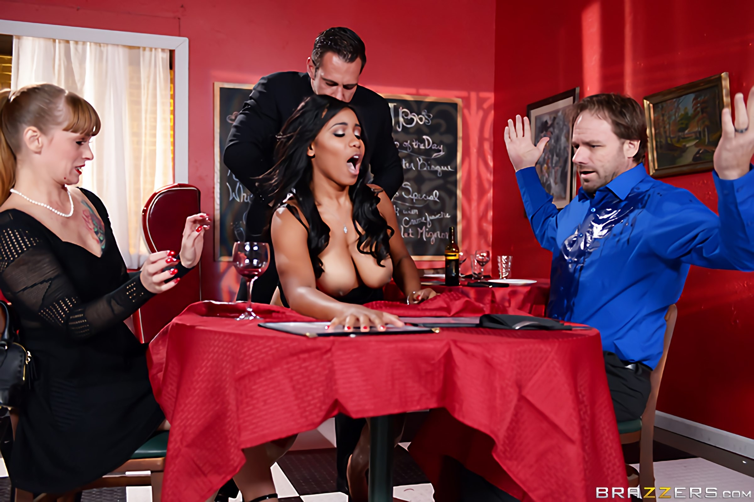 Brazzers 'A Tip For The Waitress' starring Jenna J Foxx (Photo 12)
