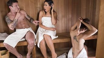 Makayla Cox in 'Sneaky Sauna Mama'